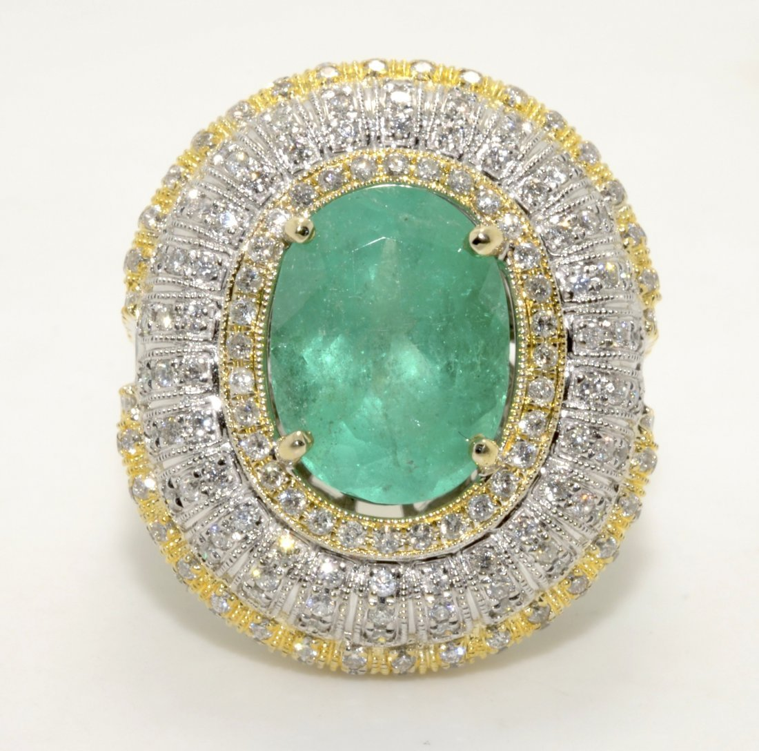 Emerald & Diamond Ring Appraised Value: $39,100