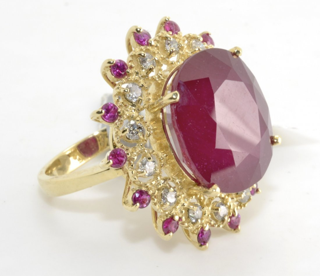 Ruby & Diamond Ring Appraised Value: $18,269