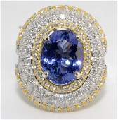 Tanzanite & Diamond Ring Appraised Value: $26,085