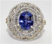 Tanzanite  Diamond Ring Appraised Value 28725