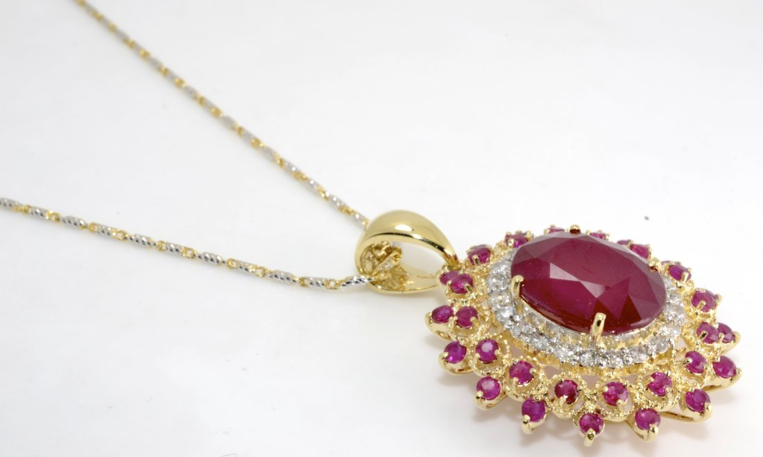 Ruby & Diamond Necklace Appraised Value: $7,920