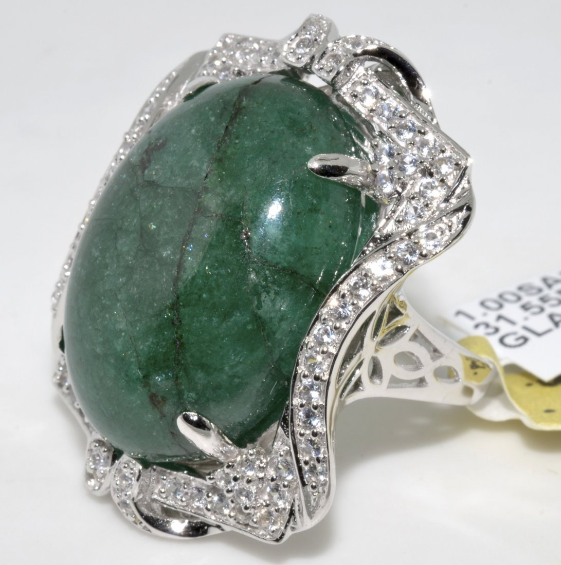 Emerald & Sapphire Ring Appraised Value: $9,868