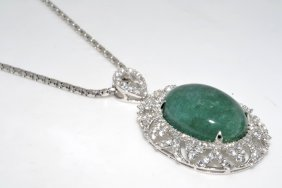 Emerald & Sapphire Necklace Appraised Value: $2,694