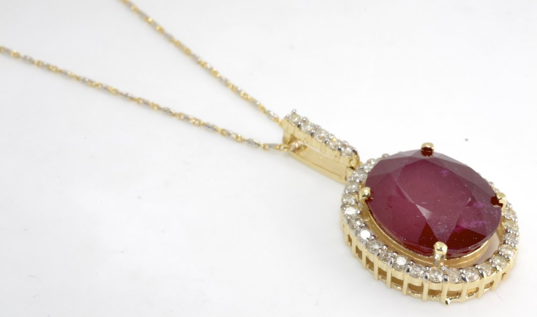 Ruby & Diamond Necklace Appraised Value: $7,350