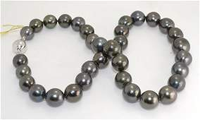 Tahitian South Sea Cultured Pearls Necklace AV 14329