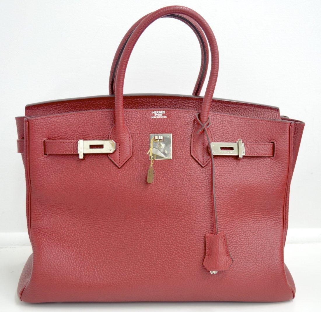 Red Hermes Birkin Bag (USED)