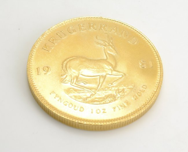 1 OZ Pure Gold Krugerrand Coin 1981