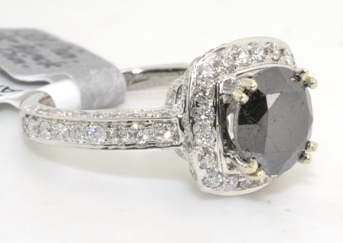 Black & White Diamond Ring Appraised Value: $6,240