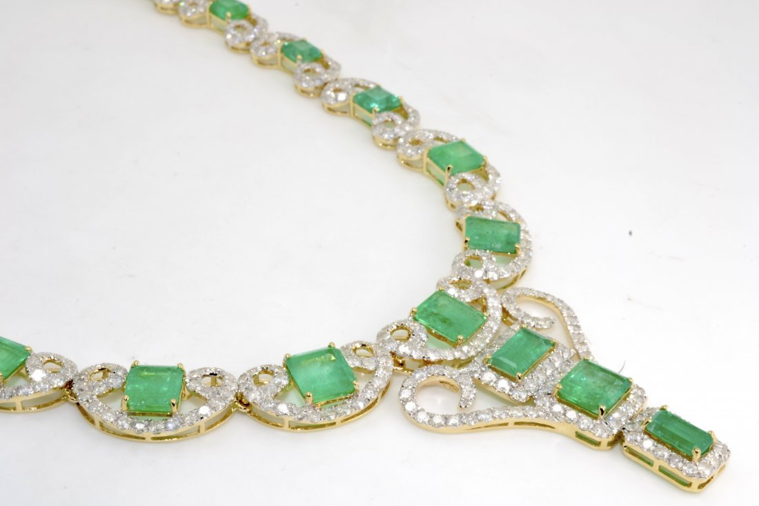 Emerald & Diamond Necklace AV: $60,650