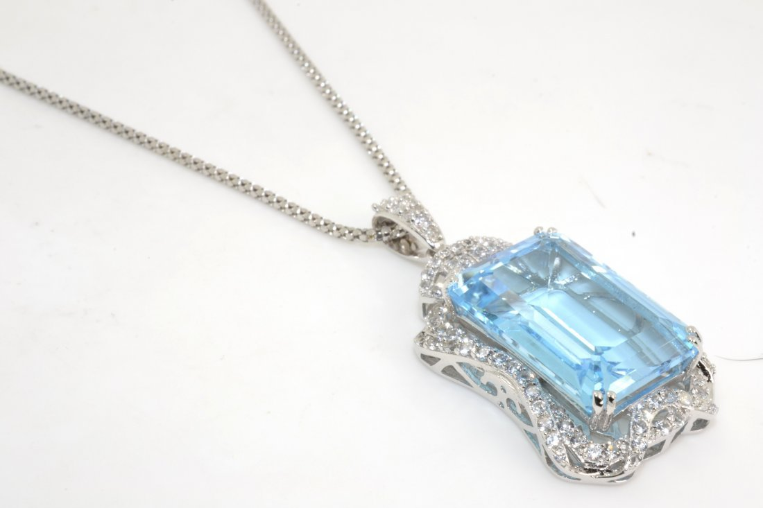 Topaz & Sapphire Necklace Appraised Value: $2,135