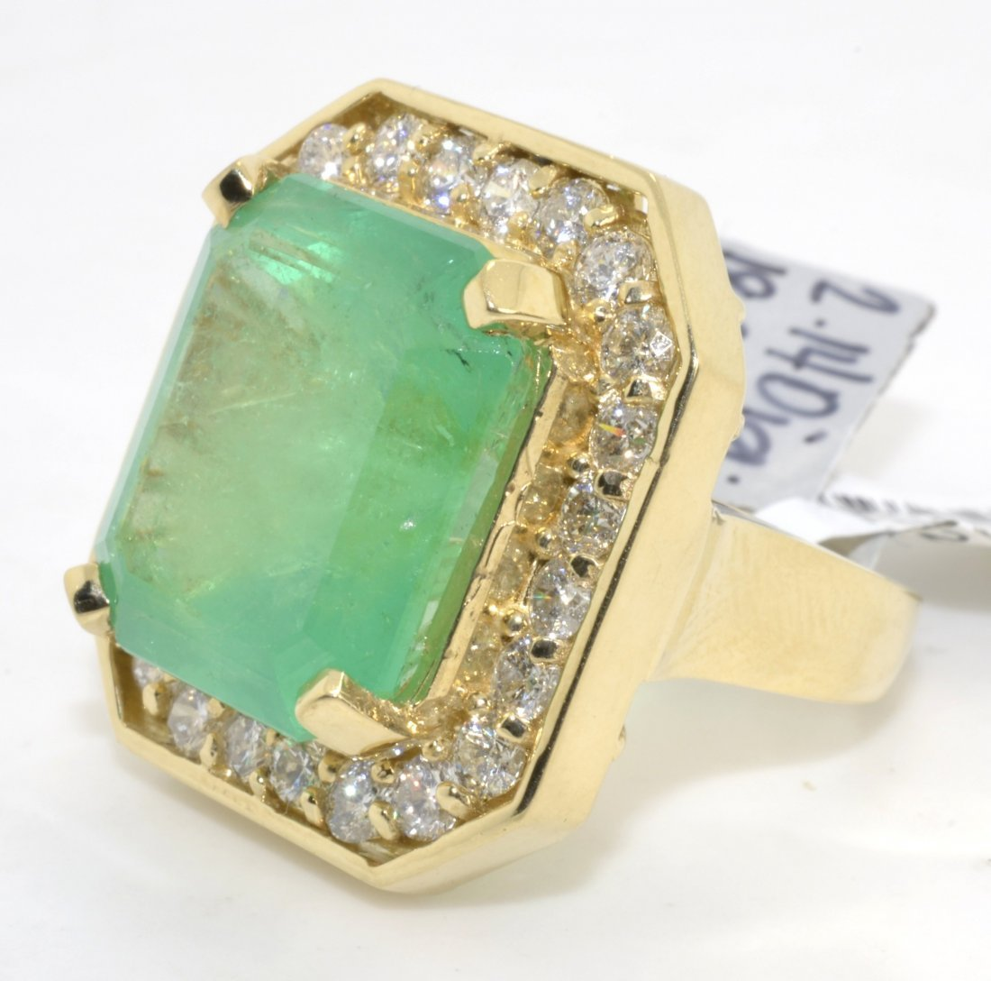 Emerald & Diamond Ring Appraised Value: $69,800