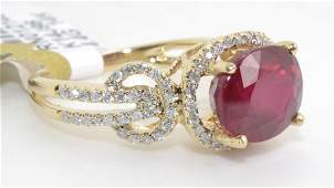 Ruby  Diamond Ring Appraised Value 3400