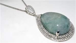 Emerald  Sapphire Necklace AV 17546