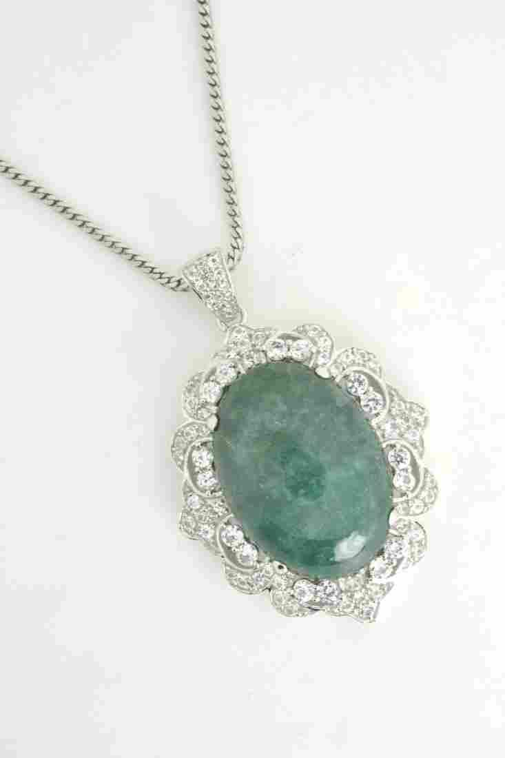 Emerald & Sapphire Necklace AV: $9,224