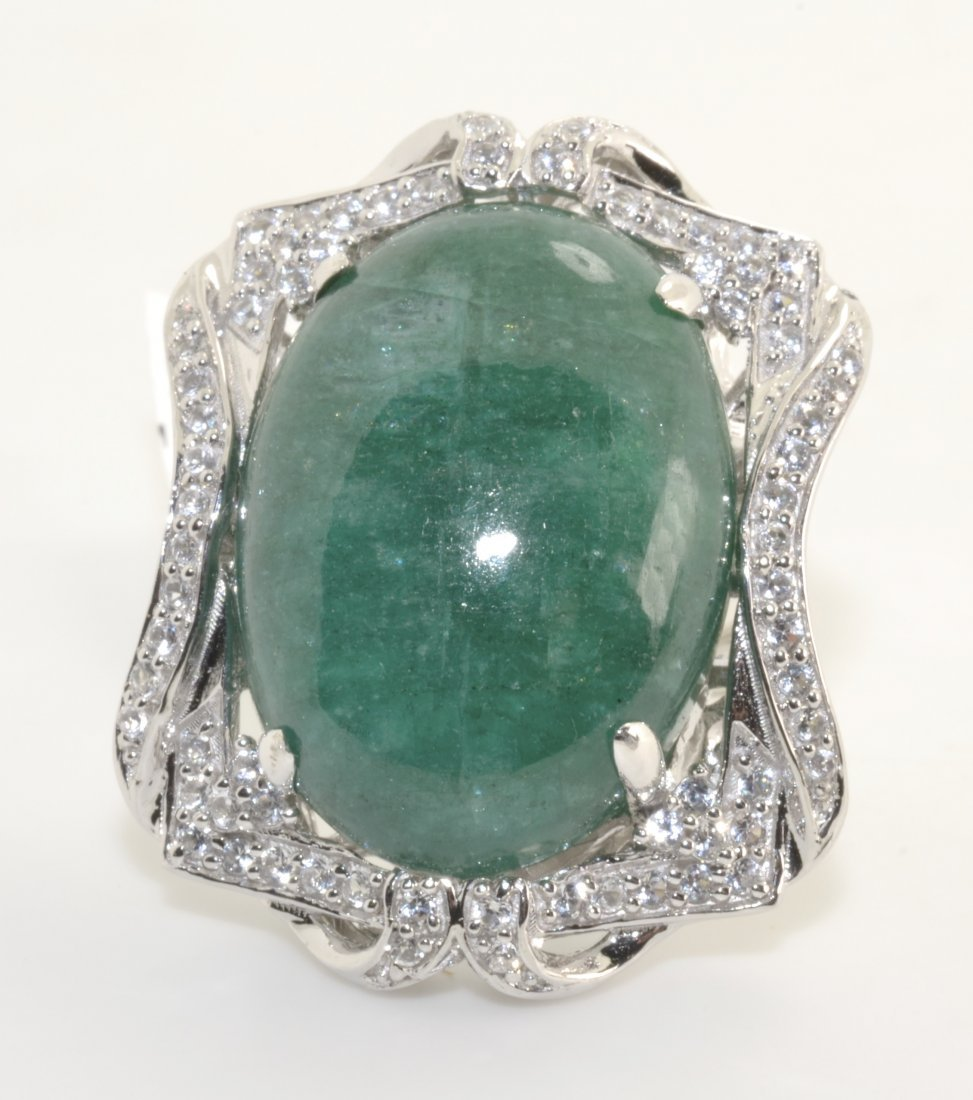 Emerald & Sapphire Ring Apprasied Value: $9,986