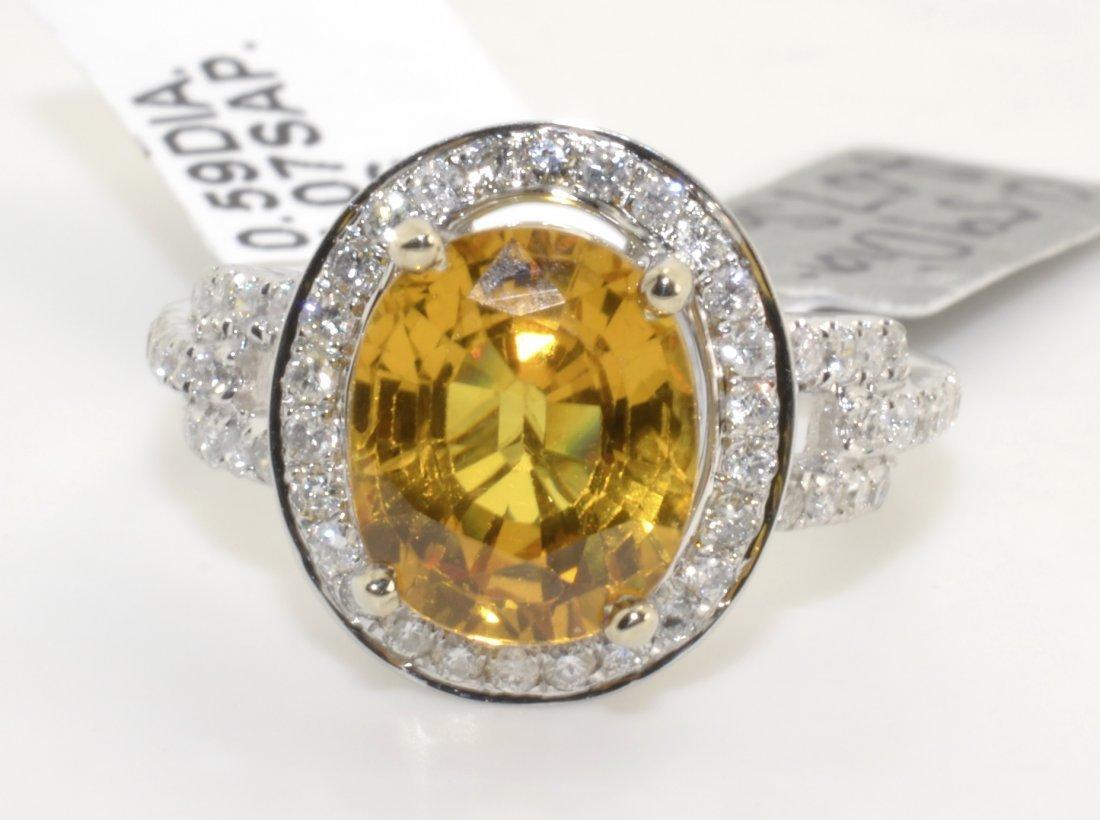 Diamond & Sapphire Ring Appraised Value: $13,000