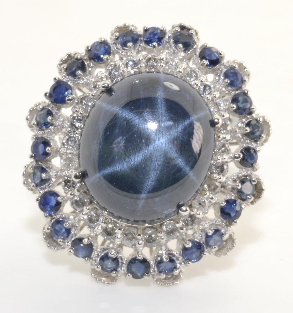 Diamond & Star Sapphire Ring Appraised Value: $39,945