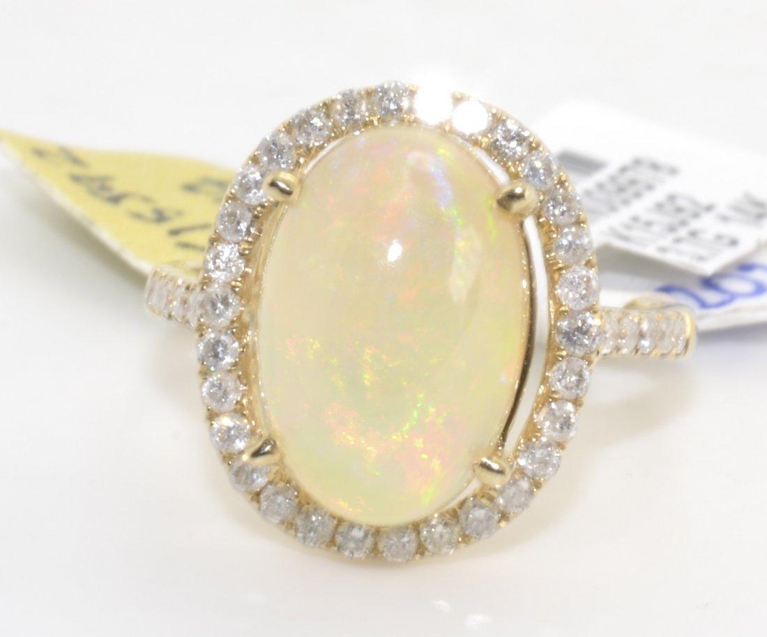 Opal & Diamond Ring (EGL CERTIFIED)