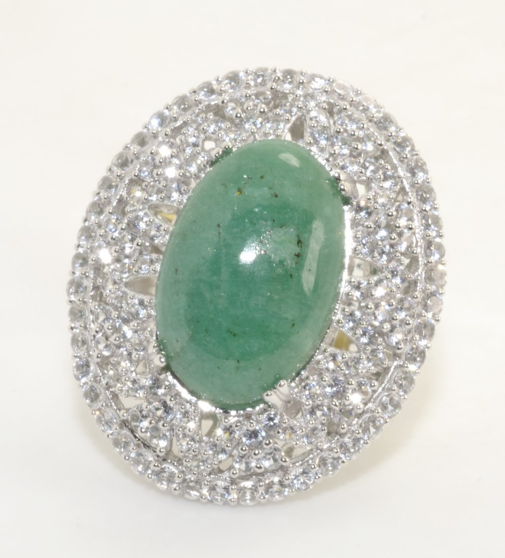 Green Beryl & Sapphire Ring Appraised Value: $2,350
