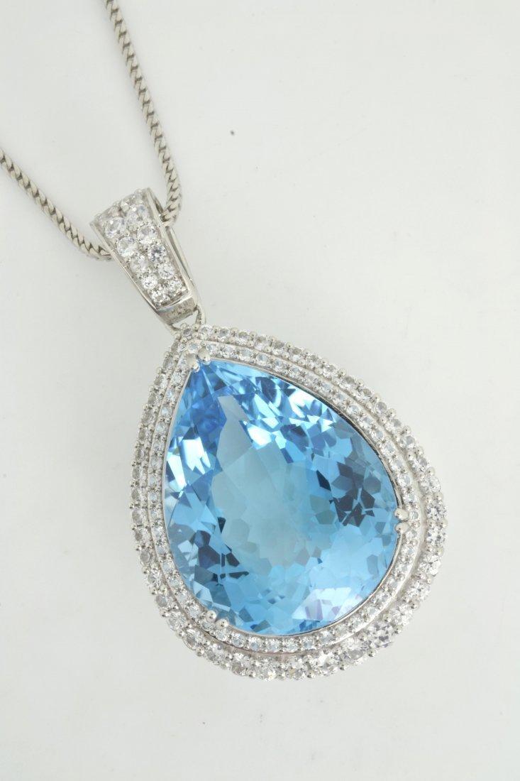 Topaz & Sapphire Necklace AV: $5,315
