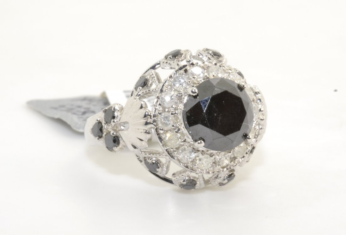Black & White Diamond Ring AV: $3,163