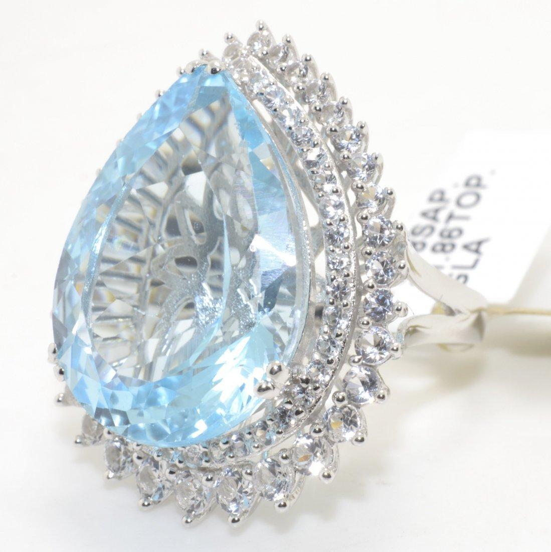 Topaz & White Sapphire Ring Appraised Value: $2,770