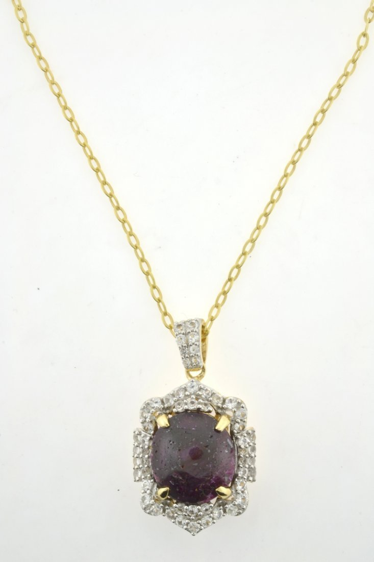 Ruby & Sapphire Necklace Appraised Value: $6,516