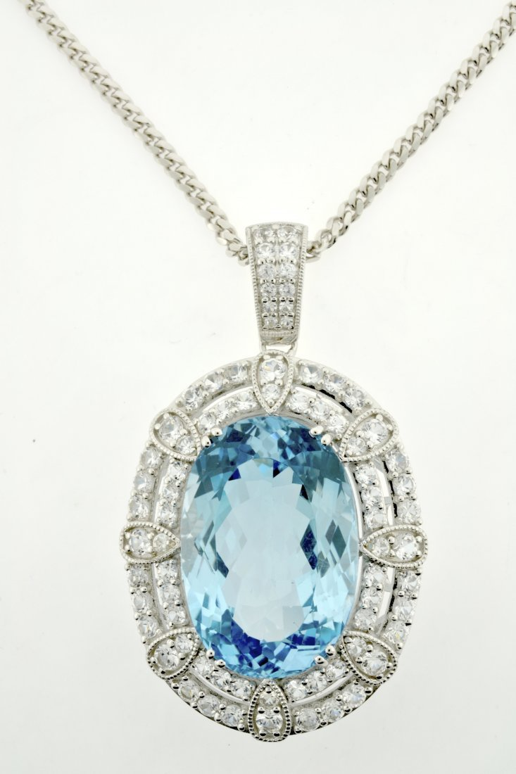 Topaz & Sapphire Necklace Appraised Value: $4,620