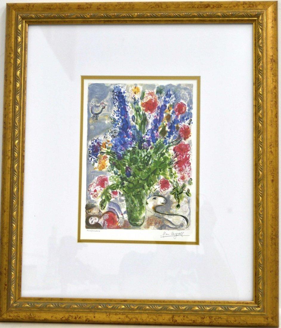 """Marc Chagall's """"Les Lupins Bleu"""" Art (FRAMED)"""