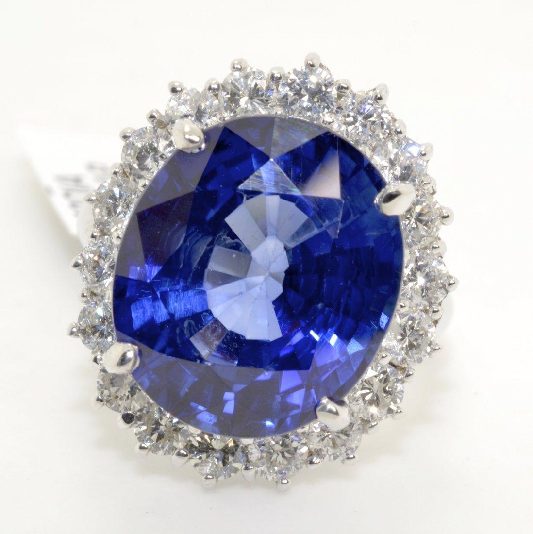 Sapphire & Diamond Ring (EGL CERTIFIED)