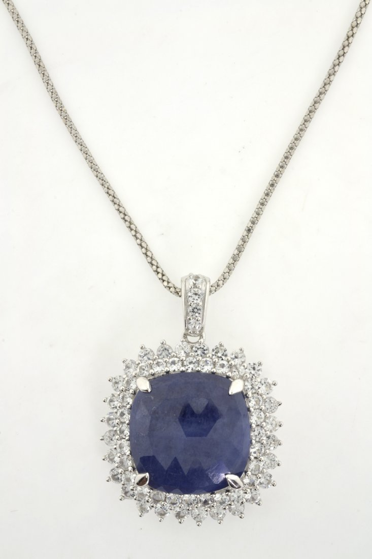 Sapphire Necklace Appraised Value: $3,550