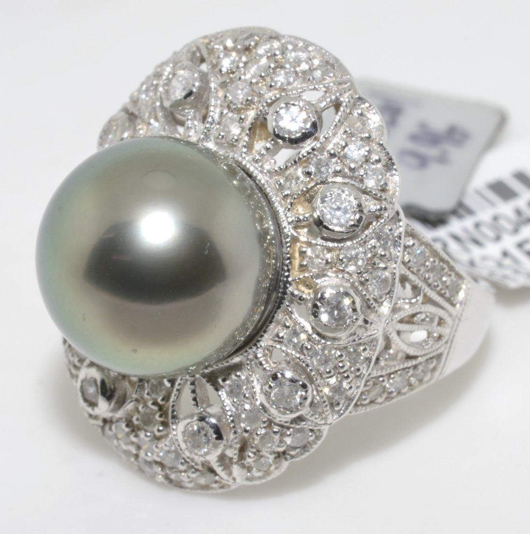 Tahitian Pearl & Diamond Ring Appraised Value: $5,570