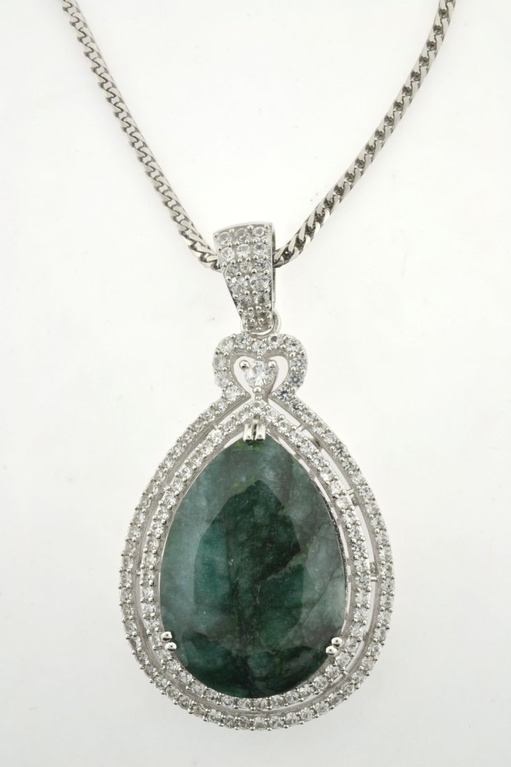 Emerald & Sapphire Necklace Appraised Value: $6,772