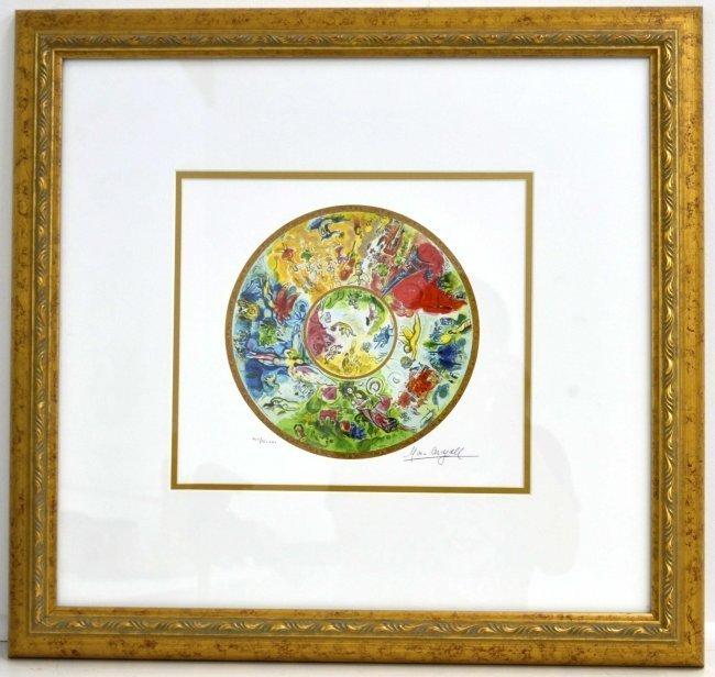 "Marc Chagall's ""Paris Opera Ceiling"" Art (FRAMED)"