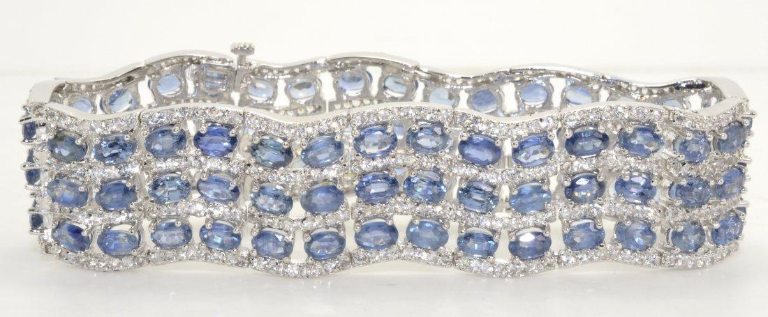 Sapphire Bracelet Appraised Value: $17,341