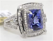 Tanzanite  Diamond Ring Appraised Value 17750