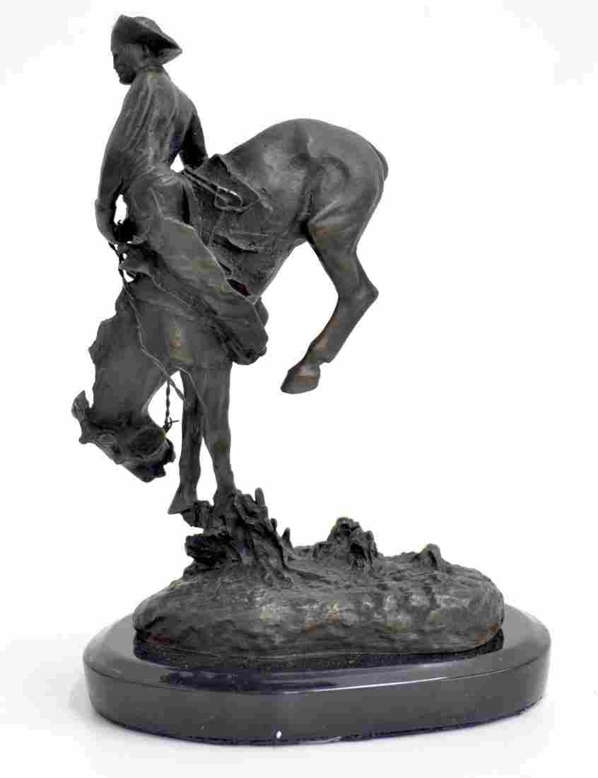 "Bronze Remington ""Outlaw"" Statue"