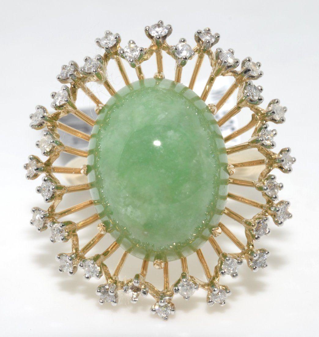 Jadeite Jade & Diamond Ring Appraised Value: $5,990