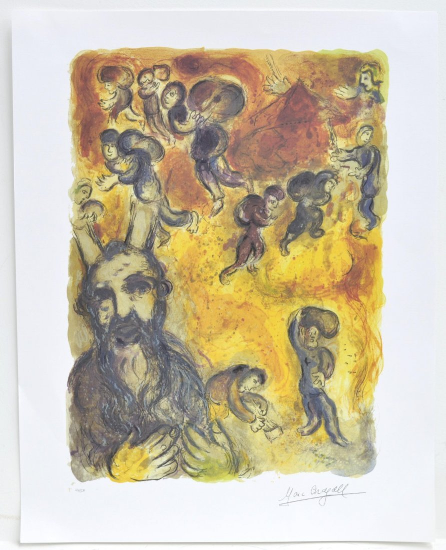 "Marc Chagall's ""Exodus - Moses Sees The Suffering Of Hi"