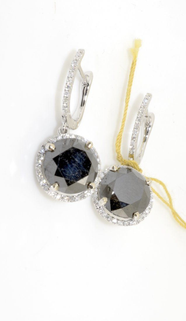 Black & White Diamond Dangle Earrings AV: $4,770