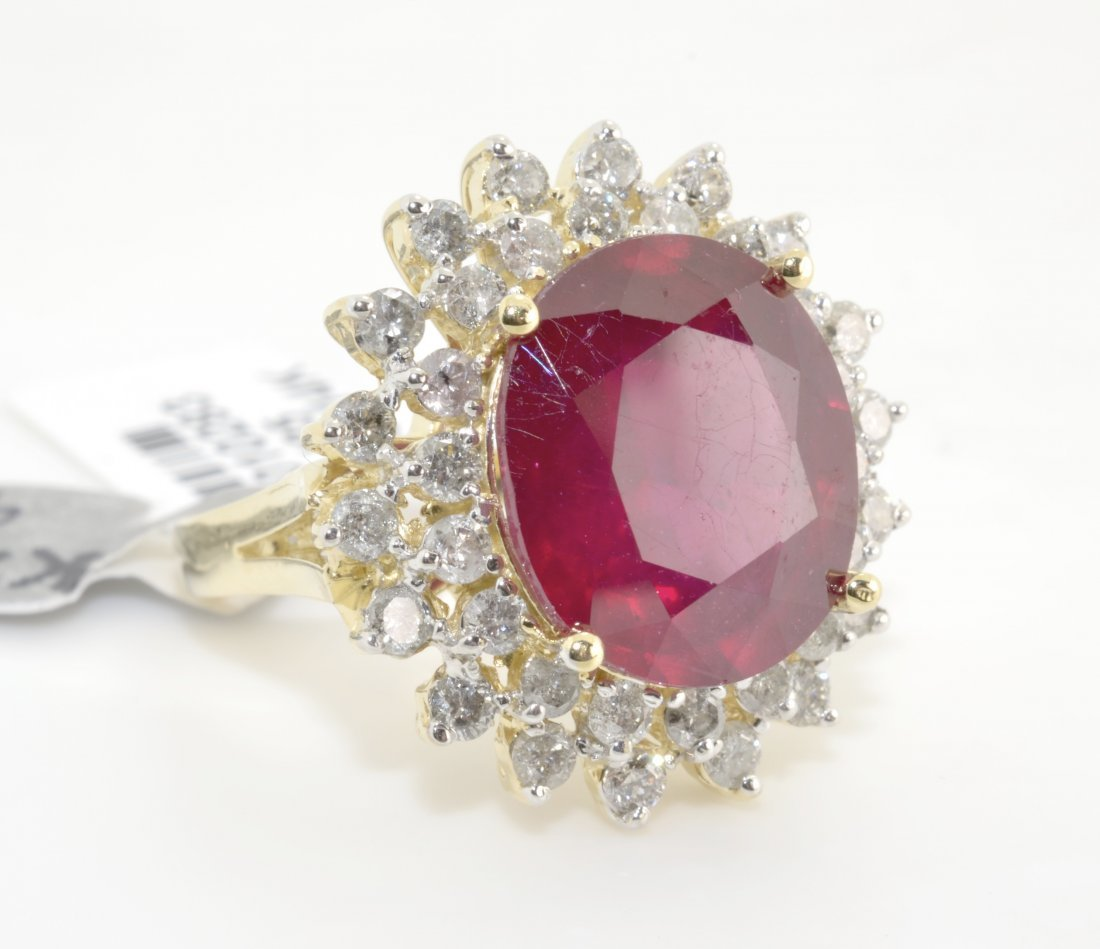 Ruby & Diamond Ring Appraised Value: $7,075