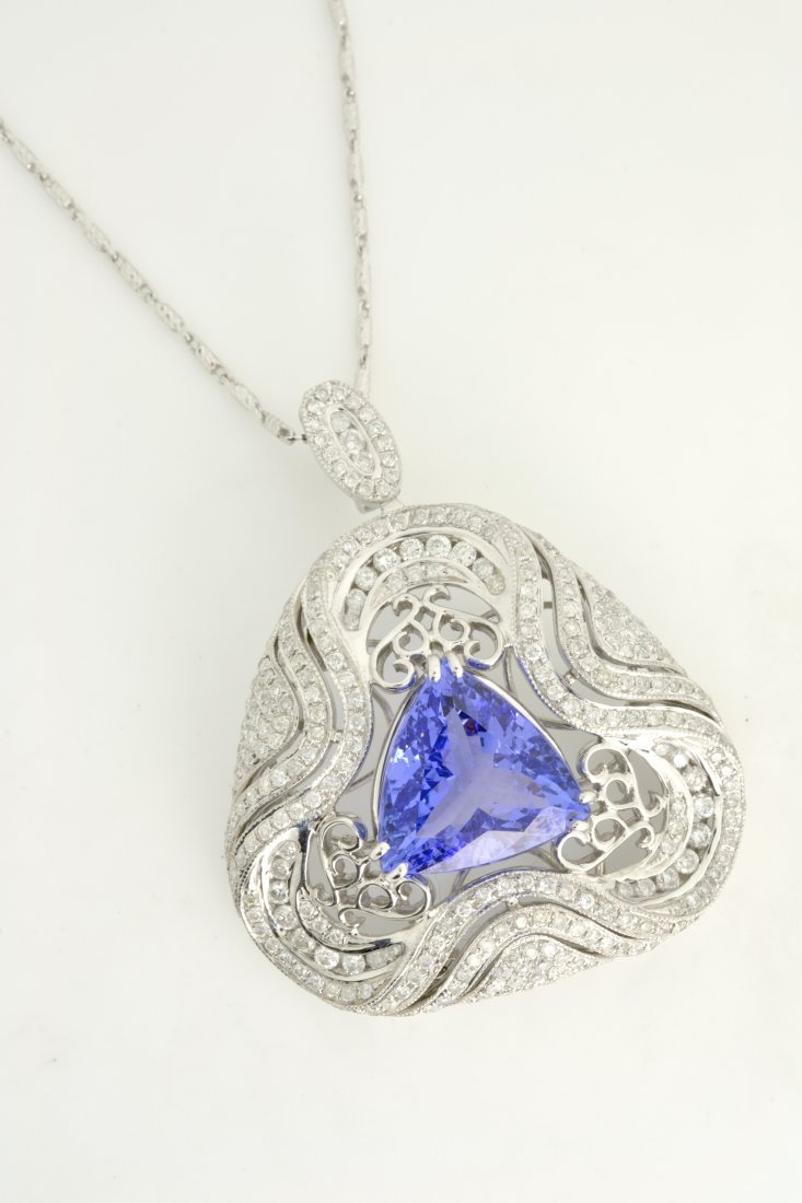 Tanzanite & Diamond Necklace AV: $32,240