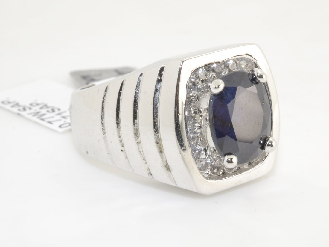 Blue & Colorless Sapphire Ring Apprasied Value: $4,625