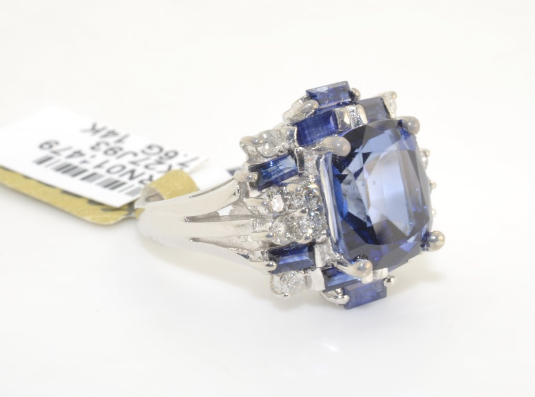 Diamond & Blue Sapphire Ring (EGL CERTIFIED)