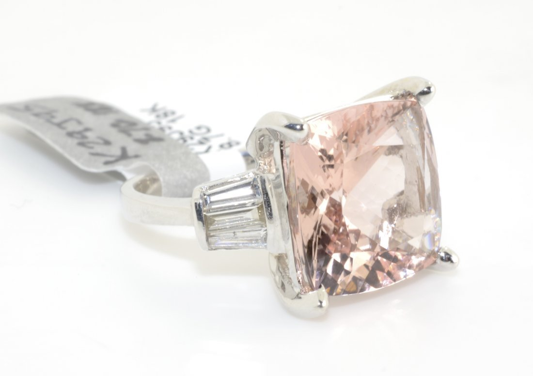 Morganite & Diamond Ring AV: $9,480
