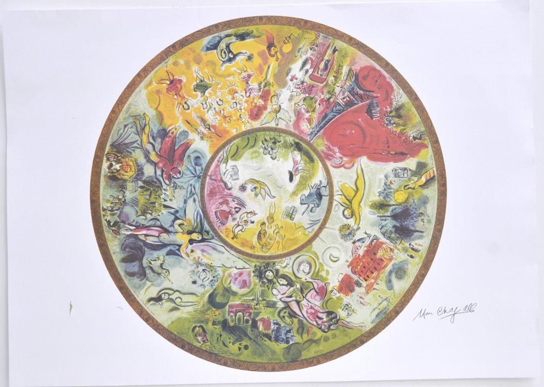 "Marc Chagall's ""Paris Opera Ceiling"" Art"