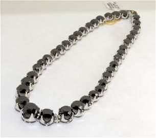 Black & White Diamond Necklace AV: $99,880