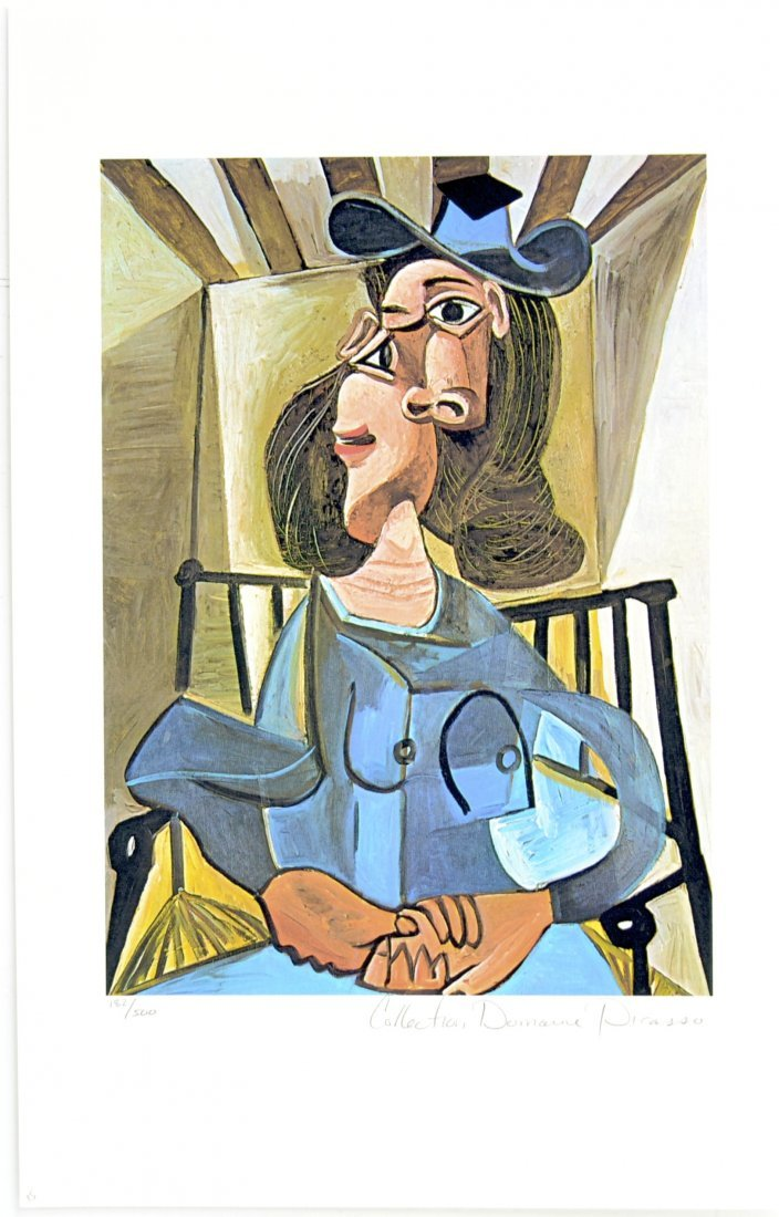 """Pablo Picasso's """"Woman with Had Seated in Armchair"""" Lim"""