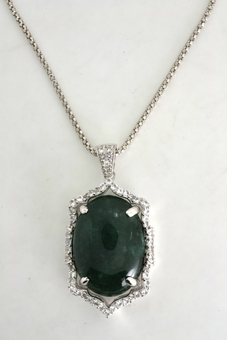 Emerald & Sapphire Necklace Appraised Value: $8,138