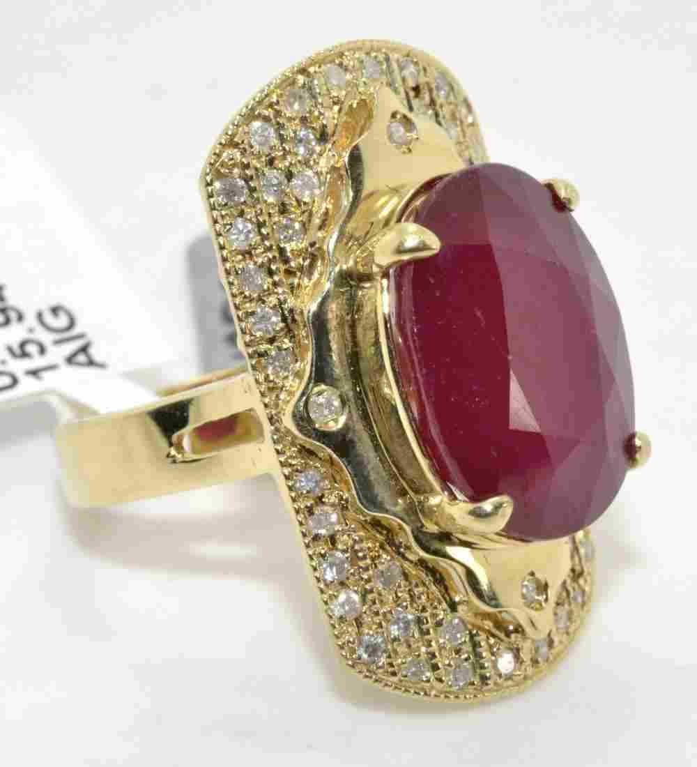 Ruby & Diamond Ring Appraised Value: $8,240